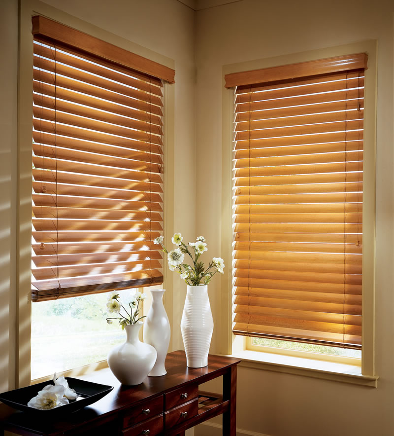 louvered blinds - Types Of Curtains For Windows
