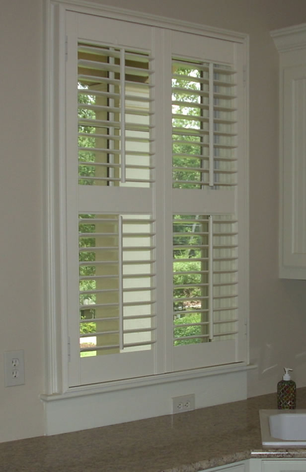 Interior louvered shutter efficient window coverings for Shades for small windows