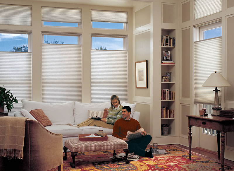 Top-down/bottom-up insulated cellular shades provide among the ...